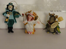 The Wizard of Oz storybook 1999 Collection by Mary Tretter 3 Christmas ornaments