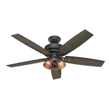 "52"" LED Edison Bulb Aged Steel 2 Light Indoor Ceiling Fan"