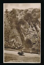 Somerset BURRINGTON COMBE Rock of Ages Motorbike Sidecar c1920/30s? RP PPC