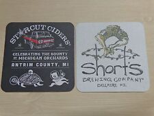 Beer Coaster: SHORTS Brewing, Bellaire, MICHIGAN ~ STARCUT Ciders, Antrim County