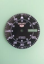 New Seiko 7S26 7S36 NH36 Black Military Flieger Watch Dial Part - 4.00 Crown
