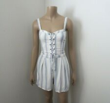 NWT Hollister Womens Striped Romper Size XS White & Blue