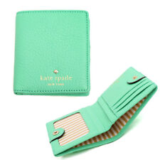 New Kate Spade Cobble Hill Small Stacy Leather Wallet Green