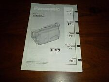 PANASONIC NV-RX11B RARE ORIGINAL INSTRUCTION MANUAL BOOK INSTRUCTIONS VHSC