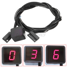 Motorcycle Bike Digital Gear Indicator Red LED Display Shift Level Sensor