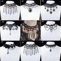 WOMEN GOTHIC NECK BURLESQUE LACE VICTORIAN CHOKER STEAMPUNK NECKLACE Gift STHGU