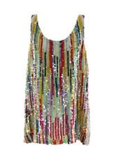 J Crew Multisse Sequin Cami Tank Top Ladies Blouse Shirt 4 SAMPLE ONE OF A KIND