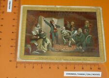 CHROMO 1890-1910 DRAPERIE DESCHAMPS-LANGLOIS SEDAN ROUGET DE LISLE MARSEILLAISE