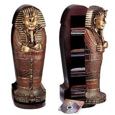 King Tutankhamen Sarcophagus CD Cabinet Egyptian Pharaoh King Tut