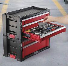 Keter 221482 XXL Werkzeugwagen mit 7 Schubladen, Anthrazit / Rot ✅