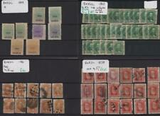 BRAZIL: 1850-1932 Collection of Used & Unused Examples - 8 Stock Cards (31373)