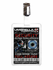 Resident Evil Umbrella Security Hunk ID Badge Cosplay Costume Prop Comic Con