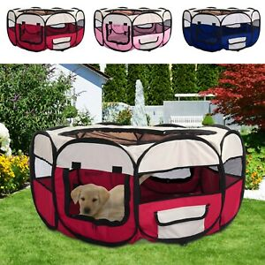 Large Foldable Soft Fabric Dog Crate Cat Cage Pet Travel Puppy Play Pen Tent