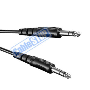 """1.2m STEREO 6.35mm 1/4"""" Jack to Jack Audio Cable Guitar Mic Amp Mixer Audio Lead"""