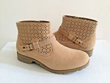 TEVA DELAVINA WOMEN ANKLE PERF TAN SUEDE BOOT US 7 / EU 38 / UK 5 NEW