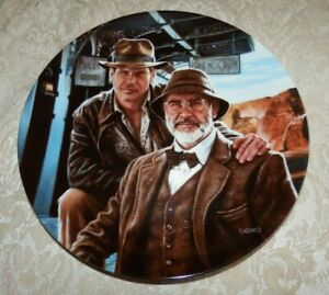 1989 INDIANA JONES & HIS DAD PLATE w/ COA & Box SECOND ISSUE by Victor Gadino