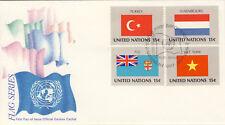 Ersttagsbrief UNO New York MiNr. 348-351, Flaggen der UNO-Mitgliedsstaaten (II)