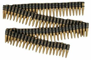 Deluxe Bullet Belt Bandolier Rambo Costume Prop Ammunition Military Soldier Gift