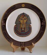 VintageTreasures of King Tut Decorative China/23K Gold Collector Plate Set 3