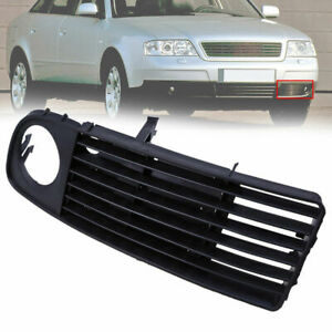 Black Front Driver Side Bumper Fog Light Grille Cover FOR Audi A6 C5 1997-2001