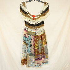 V Cristina Sexy Top Knitted Skirt Sheer Dress Size S