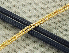 Karen hill tribe 24k Gold  Vermeil Style  170  Faceted Beads 1.3 mm.