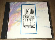 Toyota Demonstration Compact Disc Promotional Music CD Martika James Taylor Sony