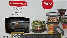 Rubbermaid Premier Food Storage Containers - 22 Piece Set Including Lids - NEW!