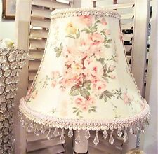 "NEW 7 "" LAMP SHADE soft Pinks light creamy fabric so Shabby chic shade LAMPSHADE"