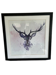 stag picture framed