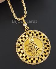 Osmanli Tugra Gold Münze Kette 22 Karat GP Altin Kaplama Kolye Ceyrek Halskette