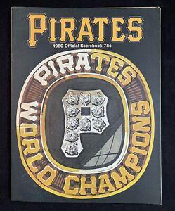 1980 Pittsburgh Pirates World Champions Official Scorebook MLB