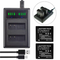 2x Battery +Slim Charger for Leica BP-DC15-E BP-DC15-TK | Leica D-LUX (Typ 109)