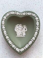 "Wedgwood 1956 4.5"" Green Heart Dish Plate"