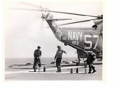 Sikorsky SH3 Sea King HS3 Navy Helicopter Photograph 8x10 BW