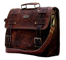 16 Inch Laptop Messenger Briefcase Large Satchel Business Leather Computer Bag