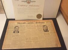 1930 The New York Herald Newspapers COA Historic Newspaper Archives HC