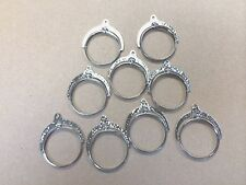 Silver dollar Coin Holders silver plated pendant no stone lot of 24