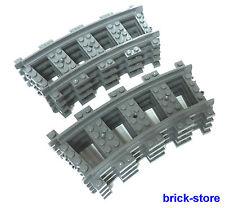 Lego ® ferrocarriles 8x gebogne raíles (3677,7897,7898, 7938,7939,60051,60052)