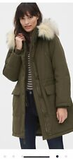 Gap Women Olive Parka Coat Size L New With Tag