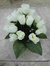 künstliche Blumen pflanzen  blumen dekoartik Grabgesteck  24 rosen weiss