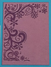 Cuttlebug 1pc Embossing Folder 'Flurries' Sizzix & Compatible ~ Snowflakes ~