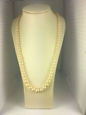 """Cream White 4.2mm-8.2mm Simulated Faux Pearl Strand 18"""" Inch"""