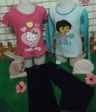 vêtements occasion fille 5 ans,sweat DORA,t-shirt HELLO KITTY,pantalon sport