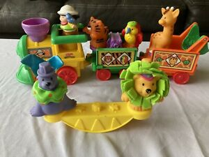 Little People Musical Safari Train and Touch and Fell Circus Animals 6 figures