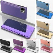 For iPhone 12 Pro 11 Pro Max XS XR SE 6 7 8 Mirror Leather Flip Stand Case Cover