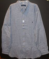8b0e38b8 Polo Ralph Lauren Big and Tall Mens Blue Black Checks Flannel Shirt Size LT