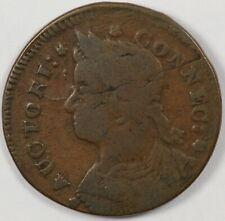 1787 Connecticut Colonial Copper Draped Bust Left  Miller 33.27-R.4 R.6