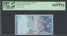 Malaysia One Ringgit Nd(1998-2000) P39b Uncirculated Graded 66