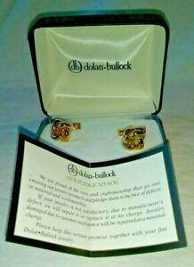 1990's Vintage Dolan & Bullock 14K G.F. Yellow Gold  CUFF LINKS Cufflinks